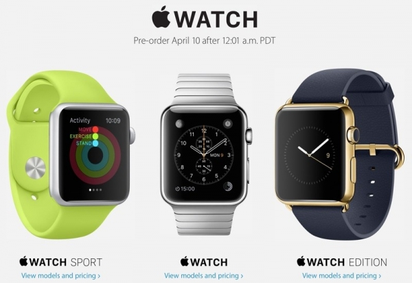 Apple Watch预购:4月10日15点开始