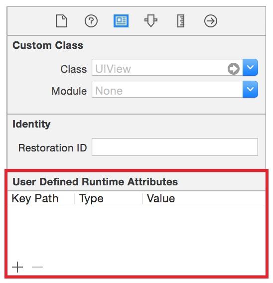 使用 Interface Builder 添加运行时属性