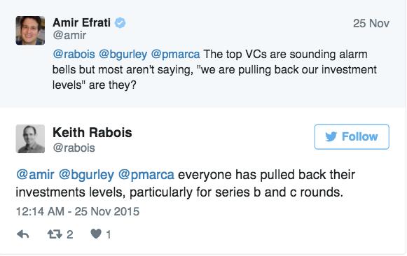 是的,我们正处在泡沫中,最聪明的VC已经知道一段时间了