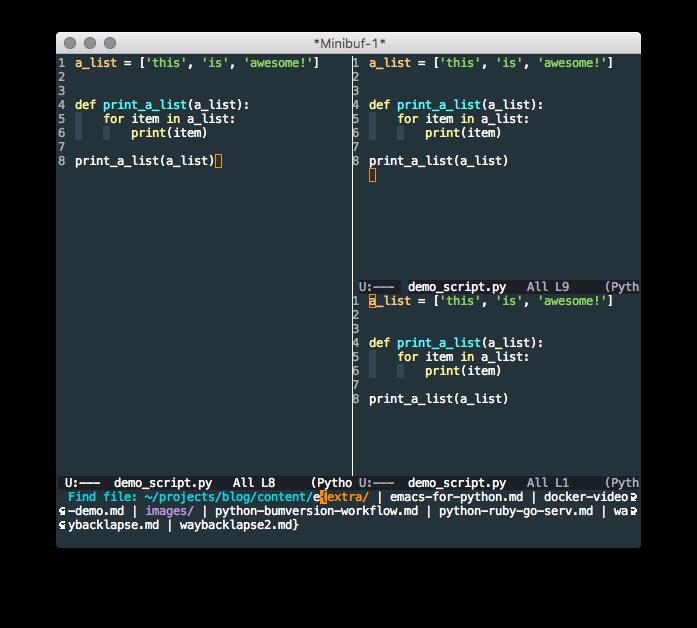 Emacs:最好的Python编辑器?