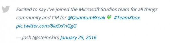 《量子破碎》已经招募到社区经理 开发近尾声