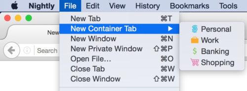 "Firefox推出""容器标签"":实验""多身份上网""功能"