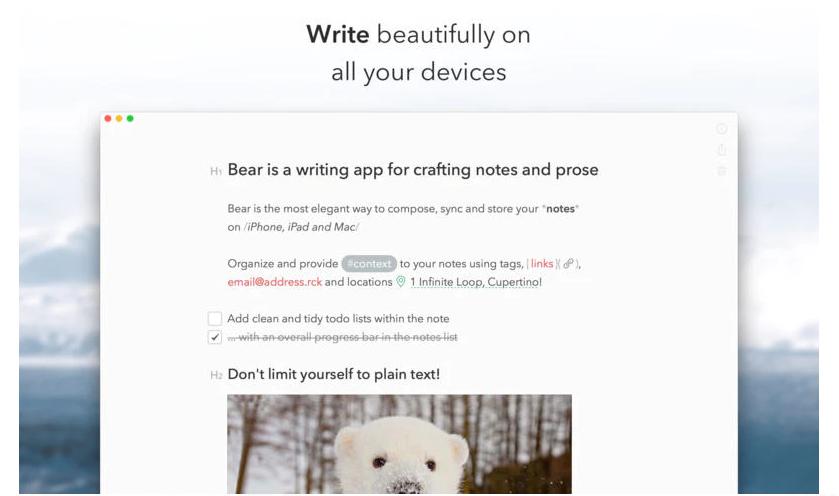 年度笔记应用 Bear:颜值即正义