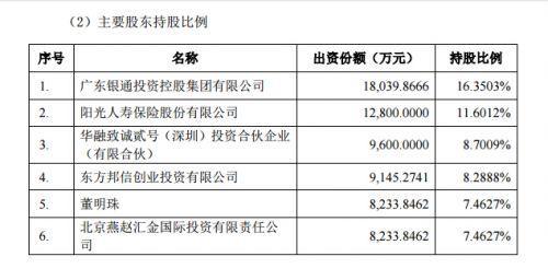 珠海银隆股权结构曝光:董明珠持股7.5% 京东持
