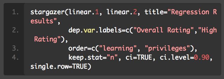 要优雅!一行代码搞定 R 语言模型输出!(使用 stargazer 包)