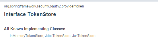 Spring Security TokenStore实现3+1详解