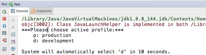 为基于spring-boot的应用添加根据运行时操作系统环境来提示用户选择active profile的功能