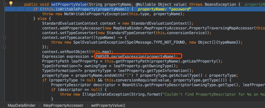 Spring Data Commons组件远程代码执行漏洞(CVE-2018-1273) 分析过程