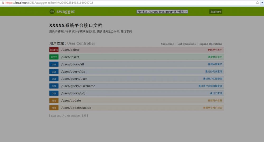 Java效率工具之Swagger2