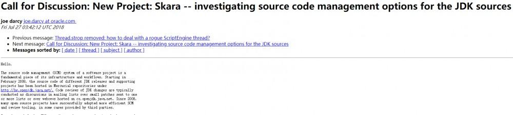 新旧之争,JDK 团队发起 Project Skara 引发争议