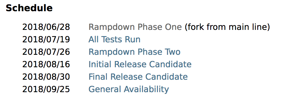 JDK 11 进入特性冻结阶段,17 个最终 JEP 一览