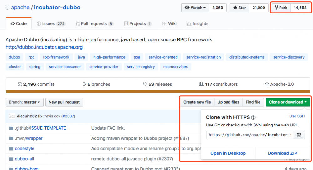 如何向开源项目做贡献(以incubator-dubbo为例)