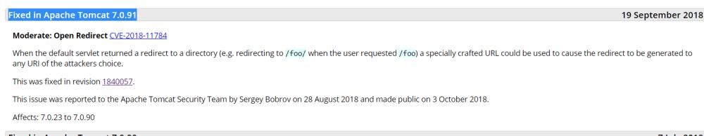 CVE-2018-11784 Tomcat URL跳转漏洞