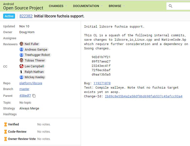 新提交记录暗示:Fuchsia 要支持 Java