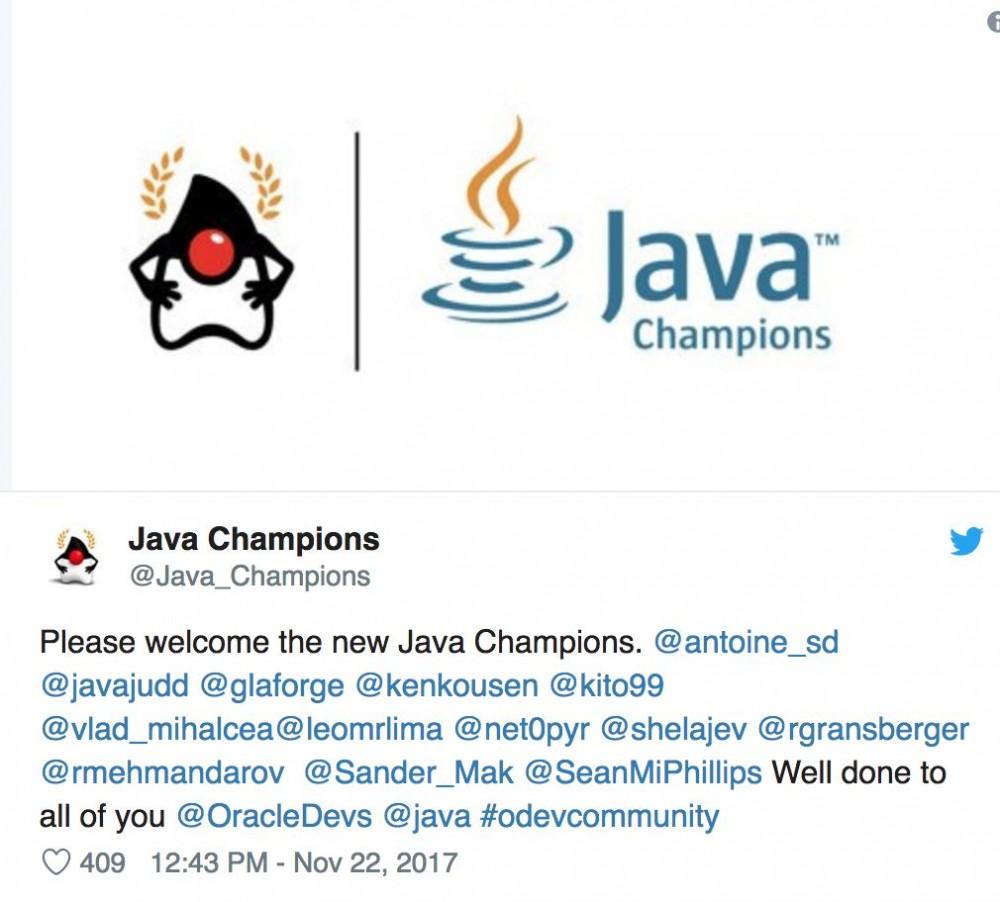怎样努力才能成为一名 Java Champion