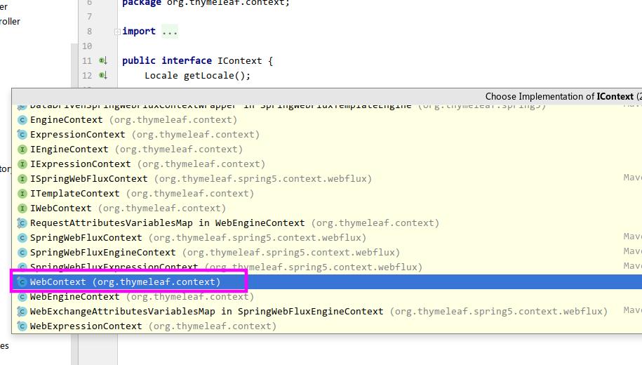 SpringBoot 2.0中SpringWebContext 找不到无法使用的问题解决