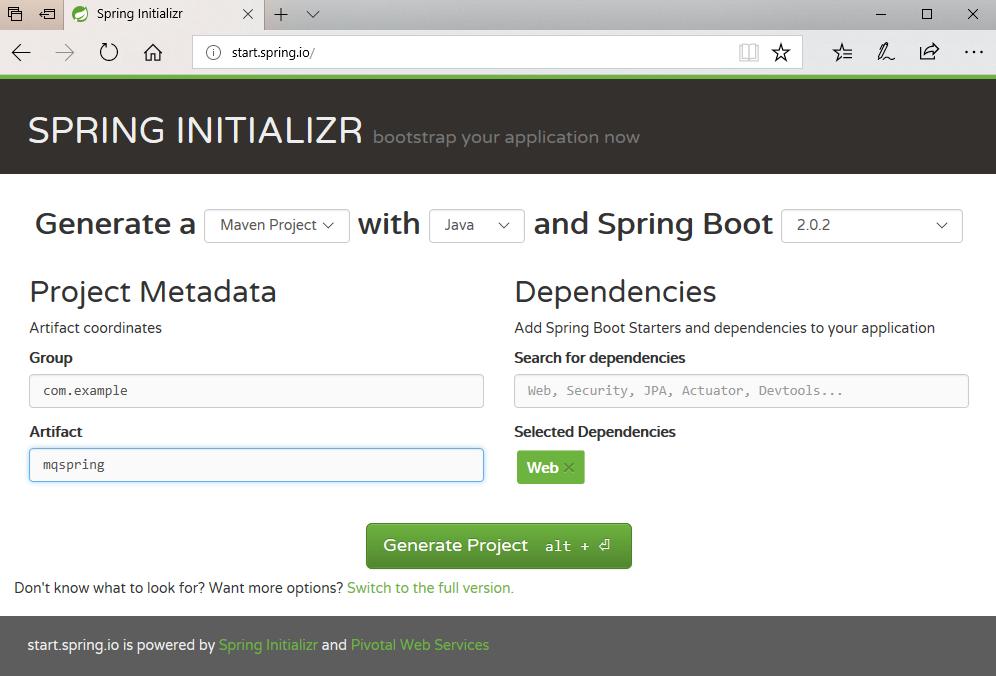 使用 Spring Boot 开发 MQ JMS 应用程序