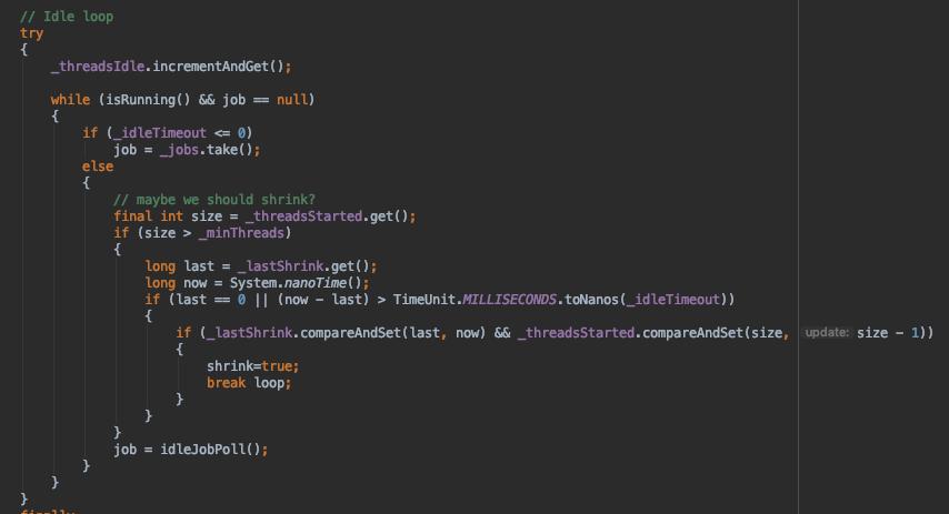 Jetty9源码剖析 - 基础组件 - QueuedThreadPool
