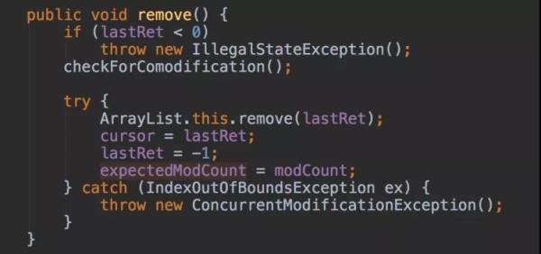 为什么阿里巴巴禁止在 foreach 循环里进行元素的 remove/add 操作