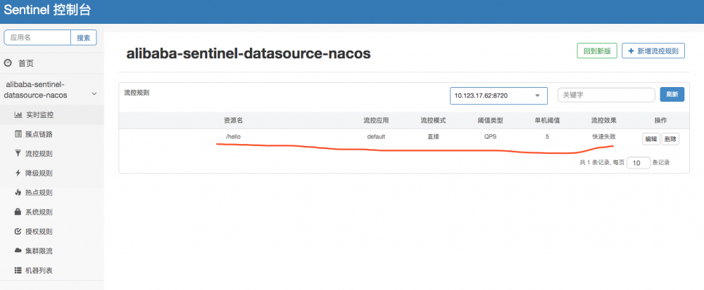 Spring Cloud Alibaba基础教程:Sentinel使用Nacos存储规则