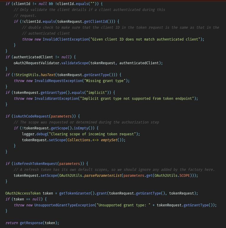 Spring Cloud OAuth Token 生成源码解析 原 荐