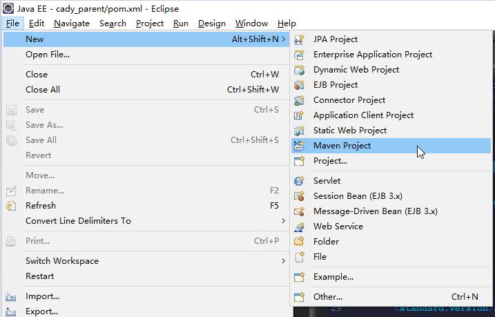 使用maven创建简单的多模块 Spring Web项目