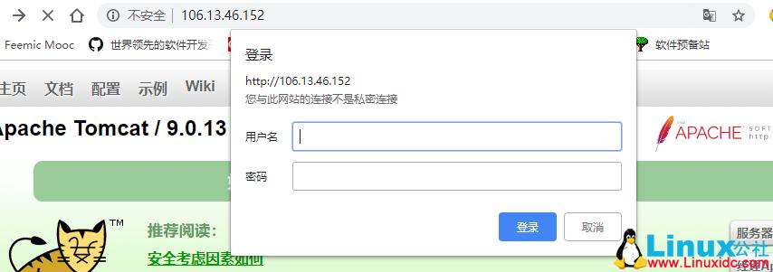 登录Tomcat管理页面配置实例