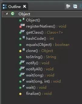 说说Object类下面有几种方法呢?