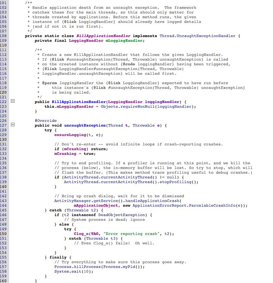 Java & Android未捕获异常处理机制