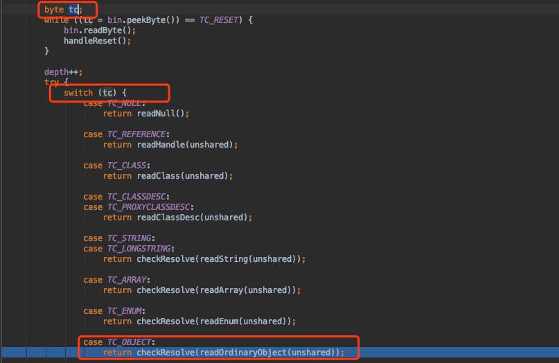 Java反序列化过程深究