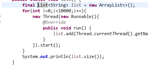 【java】关于Cannot refer to the non-final local variable list defined in an enclosing scope解...