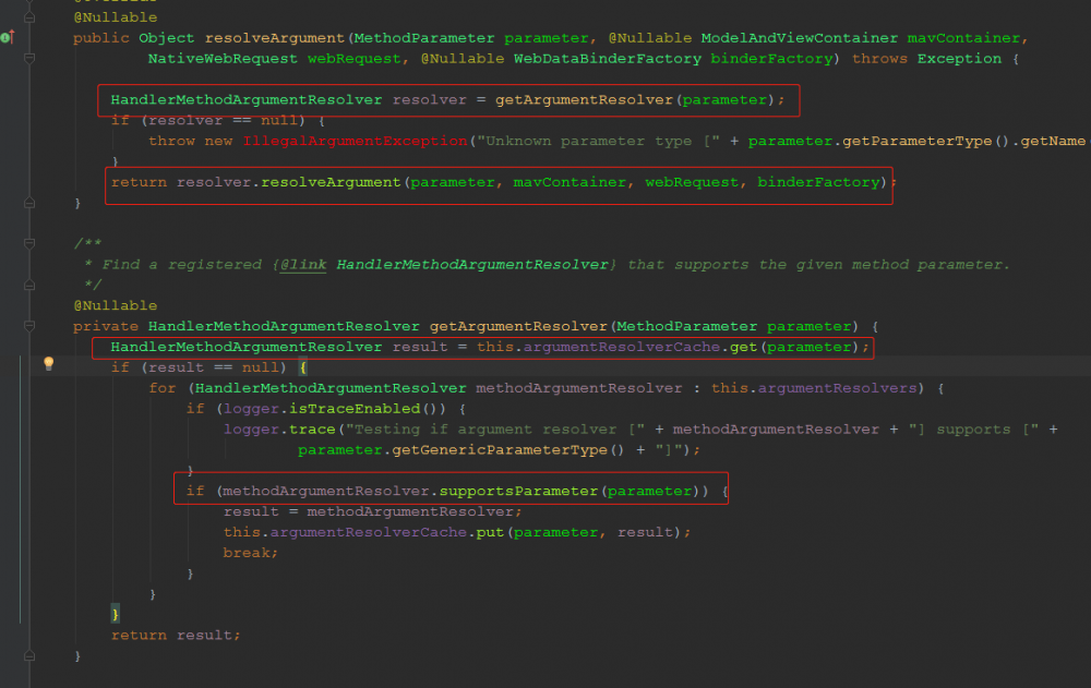 实现自定义的参数解析器——HandlerMethodArgumentResolver