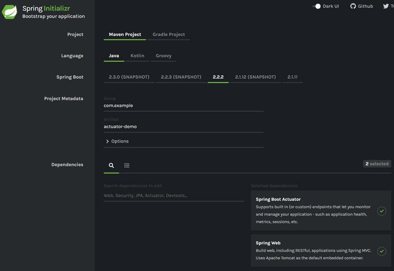 Spring Boot Actuator 模块 详解:健康检查,度量,指标收集和监控