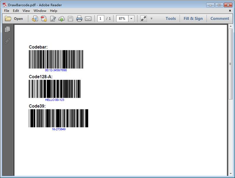 Java 在PDF中添加条形码
