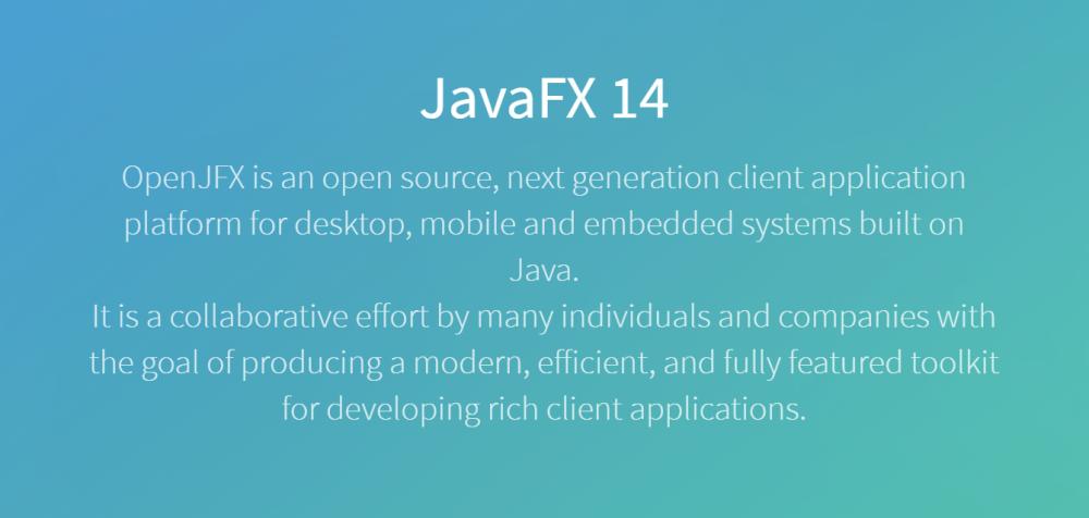 JavaFX 14 如期发布