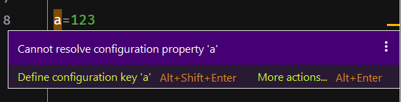 application.properties提示Cannot resolve configuration property 'xxxx'