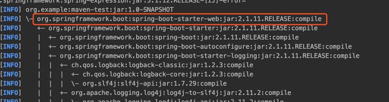 Springboot的maven间接依赖