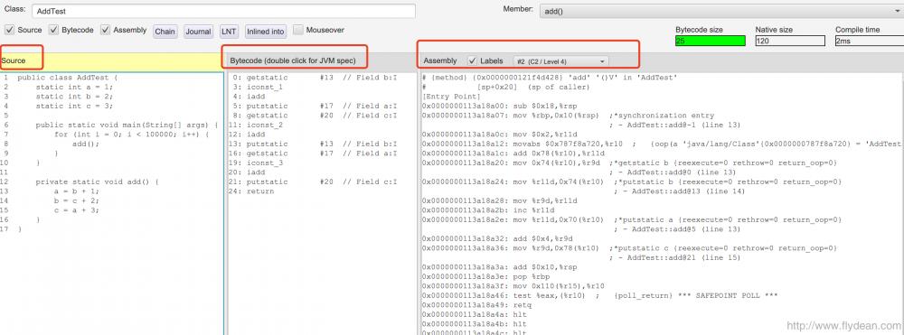 JVM系列之:通过一个例子分析JIT的汇编代码