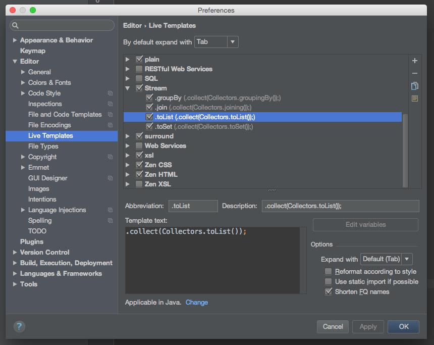 使用Intellij IDEA 解决Java8的数据流问题