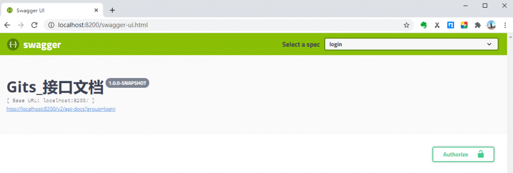 Swagger2进阶:集成统一认证和SpringSecurity的登录接口
