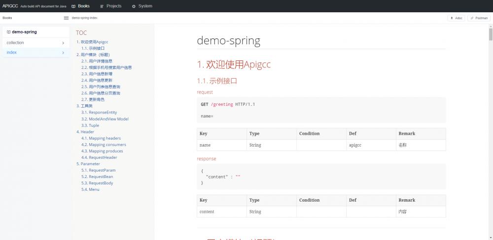 Apigcc - 非侵入的RestDoc文档生成工具