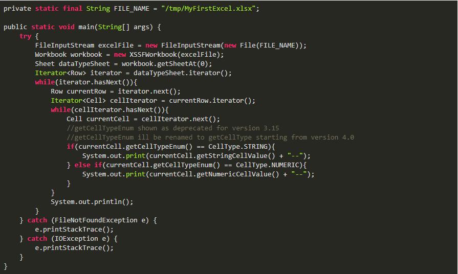 Java架构-Apache POI Excel