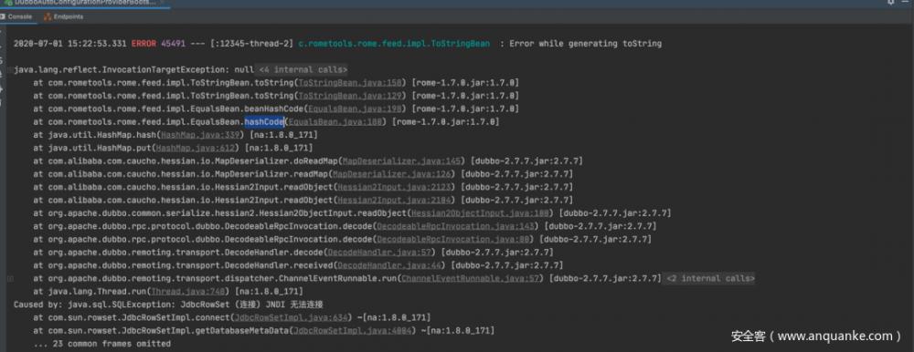 Dubbo2.7.7反序列化漏洞绕过分析