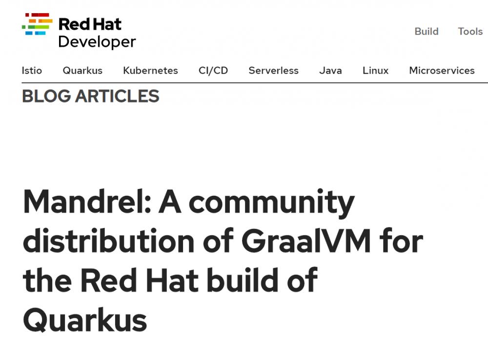 """红帽和 GraalVM 社区创建 GraalVM 下游发行版""""Mandrel"""""""