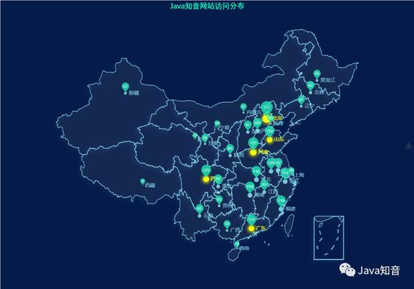炫酷,SpringBoot+Echarts实现用户访问地图可视化(附源码)