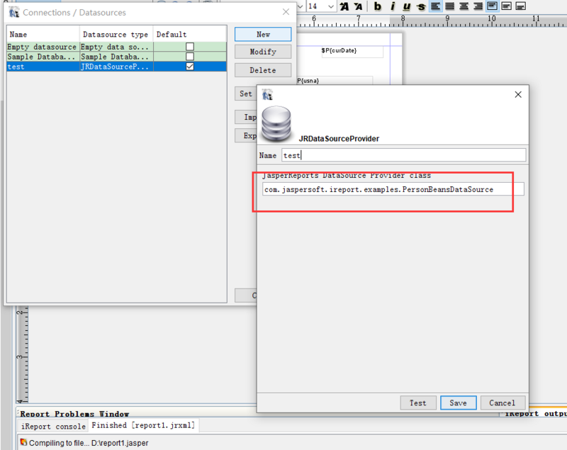 ireport5.6.0+jasperreports 使用java对象做为数据源导出excel或者Pdf