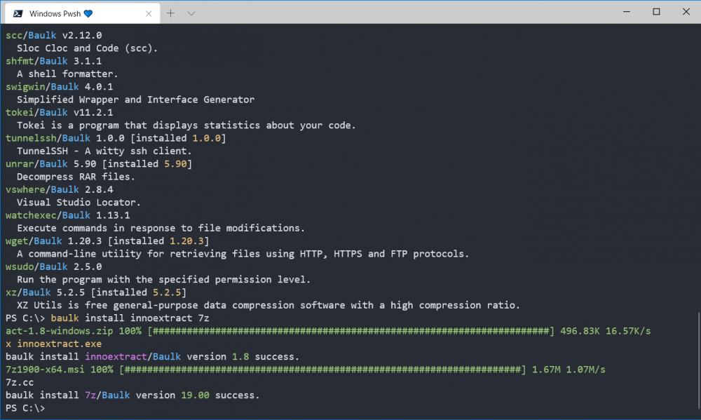 Baulk - 开发一个简单的包管理工具历程