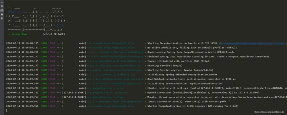 Spring Boot 使用docker整合MongoDB