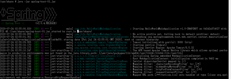 Docker系列1-最小jre环境下的spring-boot工程helloworld
